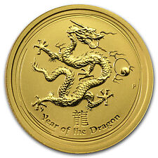 2012 1/4 oz Gold Lunar Year of the Dragon Coin