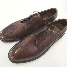 New listing Vintage Mens Dress Shoes, Wingtip Brogue Oxfords, Size 10.5 D, Leather Soles