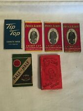 VTG Lot tobacco ROLLING PAPERS Zig Zag WHEAT STRAW Prince Albert TIP TOP HALF