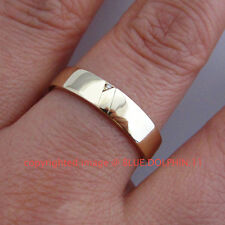 Genuine Natural Diamond Solid 9ct Yellow Gold Engagement Wedding Mens women Ring