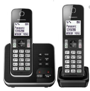 PANASONIC KX-TGD622EB Cordless Phone Call Block & Answer Phone - Twin Handsets