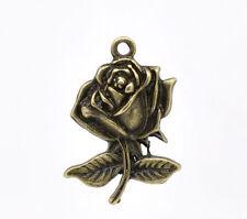 Markenlose Modeschmuck-Halsketten & -Anhänger aus Legierung mit Florales