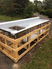 New 304 Stainless Steel Commercial Kitchen/Restaurant Sink And Prep Table