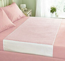 """ComfortCare 85 x 135cms,33½"""" x 53""""  with Wings 4Ltr Reusable Bed pad Double bed."""