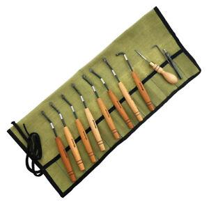 Set of checkering tools Petrograd, type N3, 90°/18lines, 10 tools