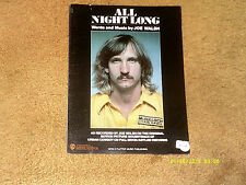 Joe Walsh sheet music All Night Long '80 6 pages (Vg+ shape)