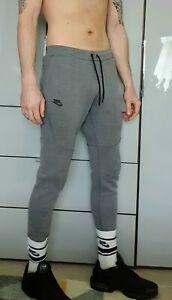 Mens Nike Tech Fleece Scally Joggers Dark Grey Medium