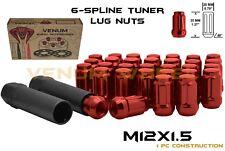 Cadillac ATS CTS DTS  20pc 12x1.5 Red Spline Lug Nut Kit + 2 Keys Free Shipping