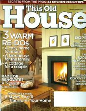 2005 This Old House Magazine: 3 Warm Redo/Raze of Renovate/Kitchen Design Tips