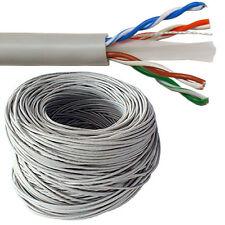 50M CAT6 Ethernet Solid Pure Copper Cable Reel - Gigabit UTP Network LAN RJ45
