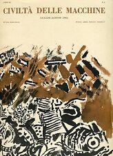Francesco D'Arcais = CIVILTÀ DELLE MACCHINE n° 4  LUGLIO -  AGOSTO 1961