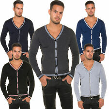 Unifarbene Herren-Strickjacken aus Wolle mit