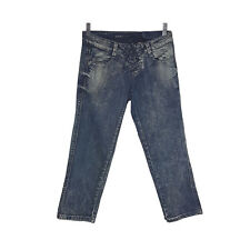 Miss Sixty Second Skin Womens Jeans Size 26 Blue Acid Wash Crop Denim