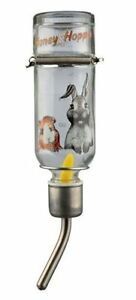 TRIXIE GLASS SMALL ANIMAL RABBIT HAMSTER HUTCH CAGE WATER BOTTLE 250 500 ML