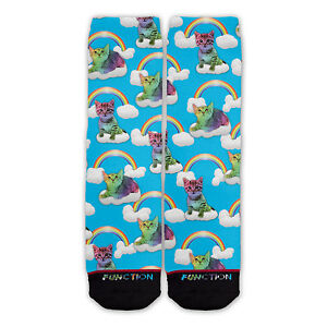 Function - Rainbow Cats Fashion Socks all over sublimation sublimated dye crazy