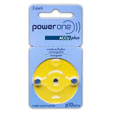 PowerOne ACCU plus Size 10 Rechargeable Hearing Aid Batteries