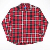 TOWN CRAFT  Red 00s Long Sleeve Check Shirt Mens 2XL