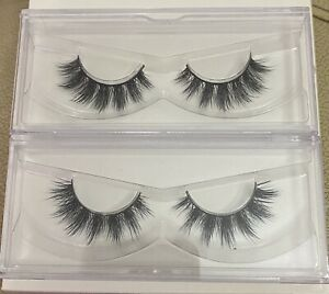 2 x Real Mink Fur Eyelashes Full Volume Dramatic Clusters -