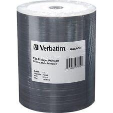 Verbatim CD-R 700MB 52X White Inkjet Hub Printable 100-Pack Tape Wrap