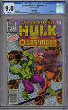 Incredible Hulk Vs. Quasimodo #1 CGC 9.0 VF/NM Wp Marvel 1983 Canadian Edition