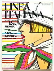 Linea Italiana n. 32 Primavera Estate 1973 Rivista Moda pronta Alberto Lattuada