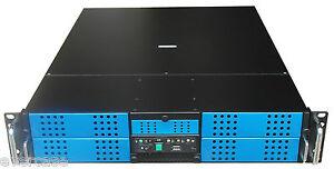 "2U Rackmount server chassis. 19"" Black Rack with NO PSU. IXX-210"