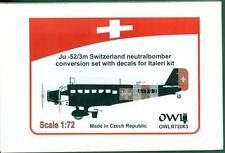 Owl Decals 1/72 JUNKERS Ju-52/3m SWISS NEUTRAL Bomber Conversion Kit