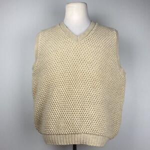 Vintage LL Bean Wool Knit V-Neck Sweater Vest 46/48