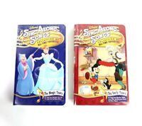 Disney Sing Along Songs Collection of All Time Favorites LOT of 2! VHS Movies