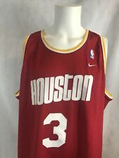 VTG Nike Steve Francis Houston Rockets NBA Authentic Sewn Red Mesh Jersey Sz 2XL