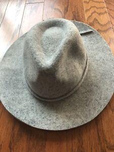 NWT Massimo Dutti Womens Wool Blend Panama Hat Sz 22 3/8 Inch