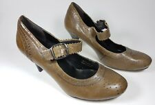 Clarks brown leather mid heel shoes uk 6 eu 39 worn once