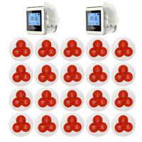 Wireless Waiter Service Calling Paging Systems For Restaurant+20Pagers+2Receiver