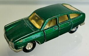 Majorette 1970s Citreon 201 GS Green, Early Version Pre Superfast Wheels.