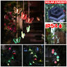 Wind Chimes Solar Powered LED Light Changing Hanging Garden Yard Outdoor
