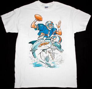 Vintage NFL Miami Dolphins Caricature T-Shirt White Unisex Reprint TK4471