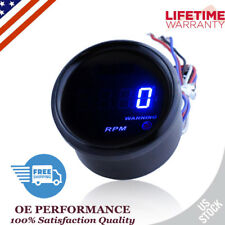 "Digital  Tachometer 2"" 52mm Blue Digital LED 0-9999 RPM  Tacho Gauge Car Motor"
