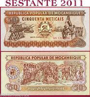 MOZAMBIQUE  -  MOZAMBICO  -  50 METICAIS 16.6. 1986  -  P 129b  -  FDS / UNC