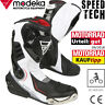MODEKA Motorradstiefel SPEED TECH schwarz weiß Sport Verstärkungen und CE Gr. 43