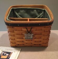 """Longaberger 2002 Father's Day """"Daddy's Caddy"""" Basket Combo +TV Shape Tie-on"""