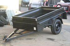 7x4 Heavy Duty Box Trailer with High 500mm Sides, Flat Steel Floor, 5 Leaf sprin