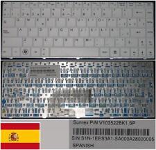 TECLADO QWERTY ESPAÑOL Medion S3211 MSI X300 V103522BK1 S1N-1EESA1-SA0 Blanco