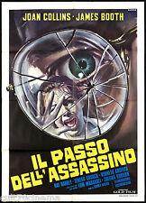 IL PASSO DELL'ASSASSINO MANIFESTO CINEMA CASARO JOAN COLLINS THRILLER POSTER 2F