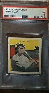 1933 Tattoo Orbit Jimmy Foxx PSA 3 VG