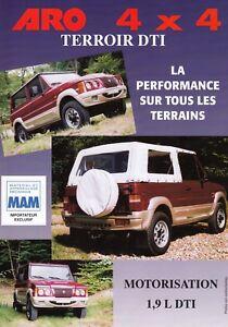 ARO 10 0 1 3 4 ARO10 4x4 Off Road Prospekt Brochure Sheet Frankreich 39