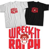 Disney Wreck-It Ralph 2 8-bit Title Logo Fun Mens Womens Kids Unisex Tee T-Shirt