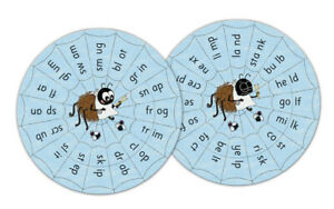 Jolly Phonics Blends Wheels (In Print Letters)