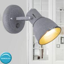 Wandspot drehbar matt Grau E14 Wandleuchten Wohnzimmer Schlafzimmer Bürolampe