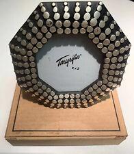 Unique Terragrafics Octagon Shaped Heavy Frame w/Silver Tone Dots-2 X 2 Pic Area