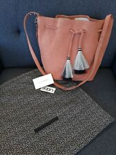 Loeffler Randall-Suede Bag camel brown